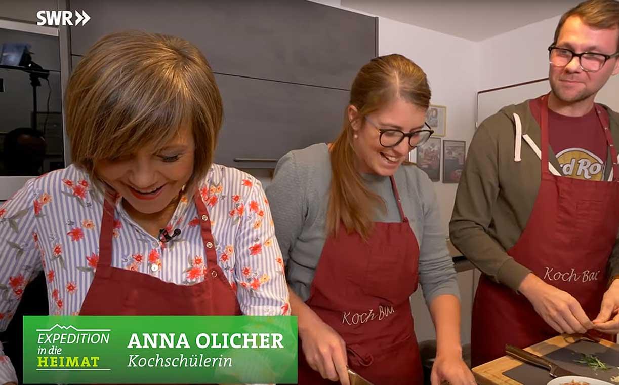 Swr Fernsehen In Der Essbar Kochschule Essbar Catering Kochschule